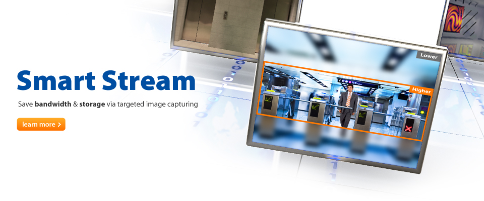 AVer introduces Smart Stream and ROI (Region of Interest) – advanced image capturing/cropping features designed to optimize bandwidth and storage for key 2-megapxiel and 3-megapixel AVer IP cameras.