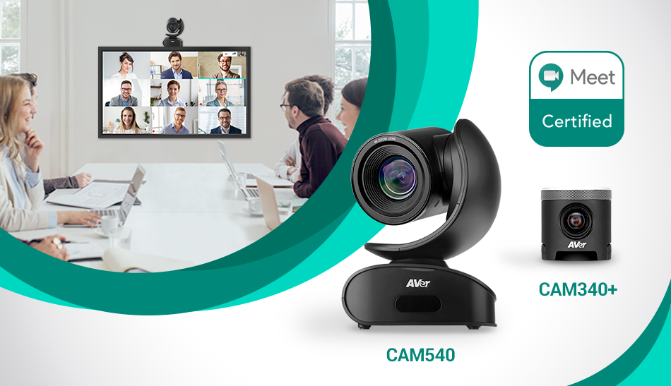 AVer's CAM540 and CAM340+ Certified for Google Meet
